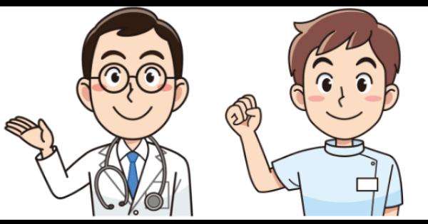 男性の医者と介護士
